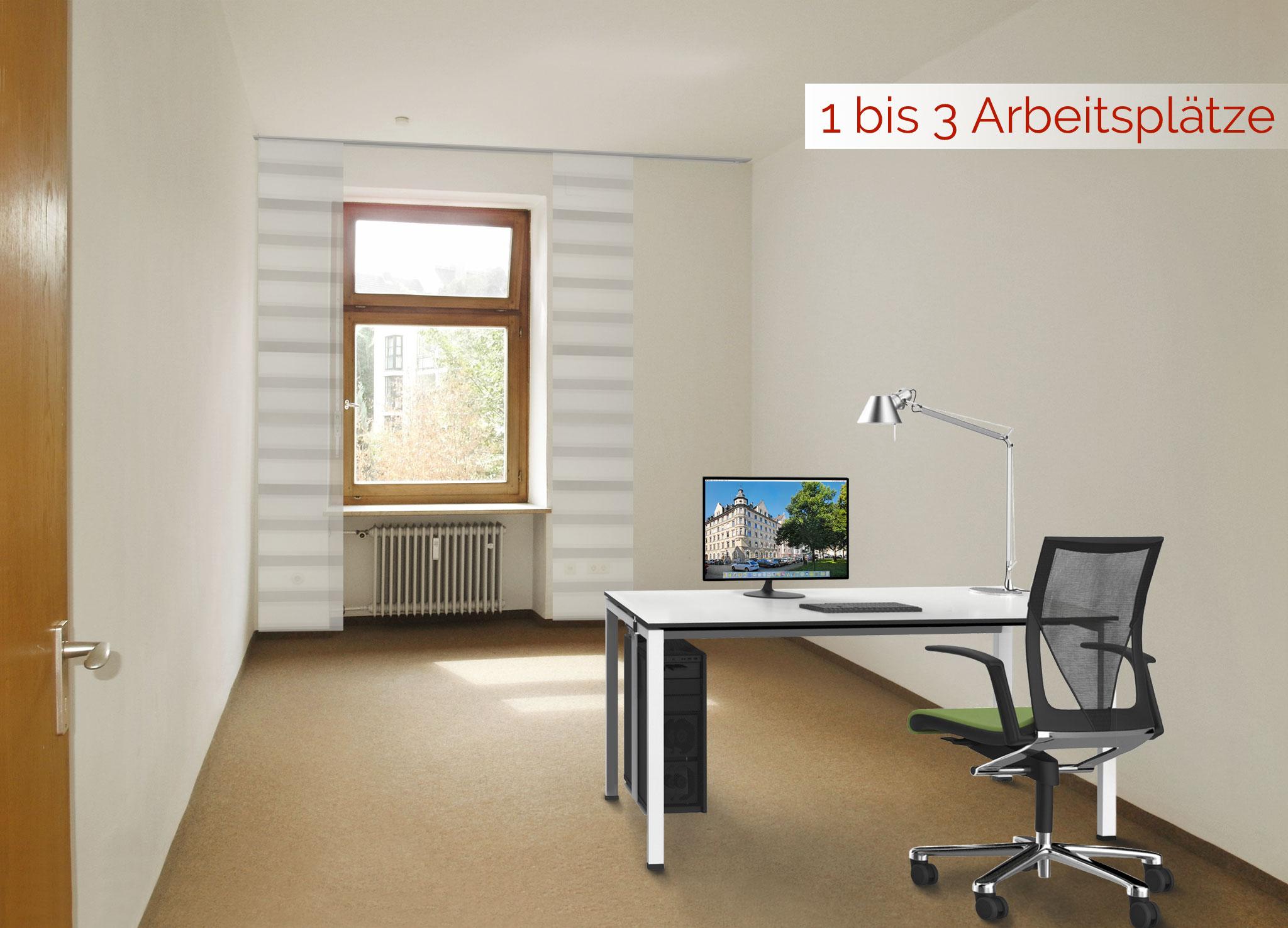 Raum 6 für 1 bis 3 Arbeitsplätze